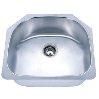D-Shaped Undermount Stainless Steel Single Sink