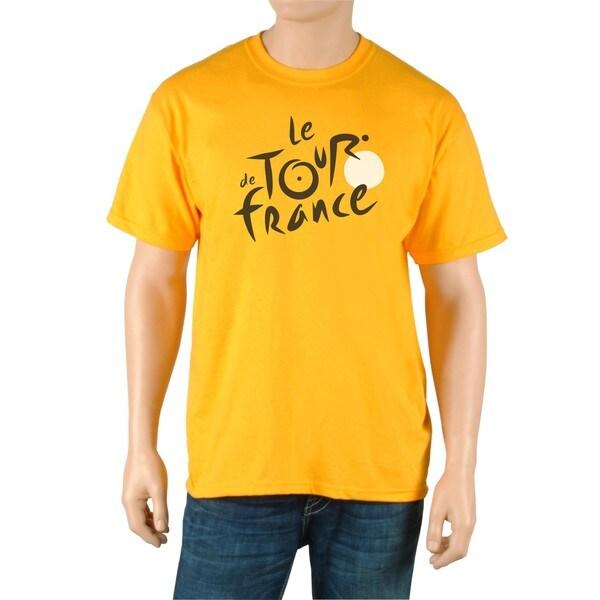 Le Tour de France Men's 'Poster' Yellow Cotton Official T-Shirt