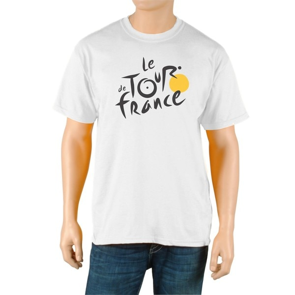 Le Tour de France Men's 'Logo' White Official T-Shirt