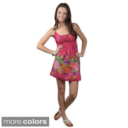 Journee Collection Juniors Cotton Floral Dress