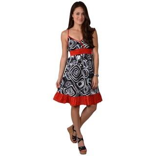 Journee Collection Juniors Cotton Geometric Empire Waist Dress