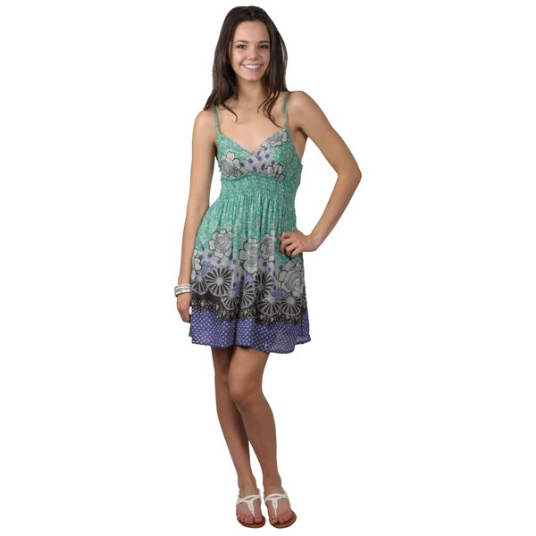 Journee Collection Juniors Cotton Floral Empire Waist Dress
