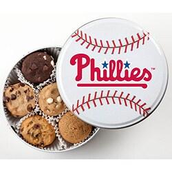 Mrs. Fields Philadelphia Phillies 18 Nibbler Cookies Tin