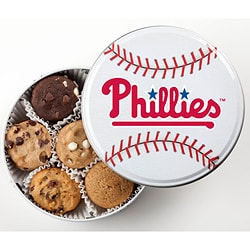 Mrs. Fields Philadelphia Phillies 18 Nibbler Cookies Tin