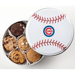 Mrs. Fields Chicago Cubs 18 Nibbler Cookies Tin