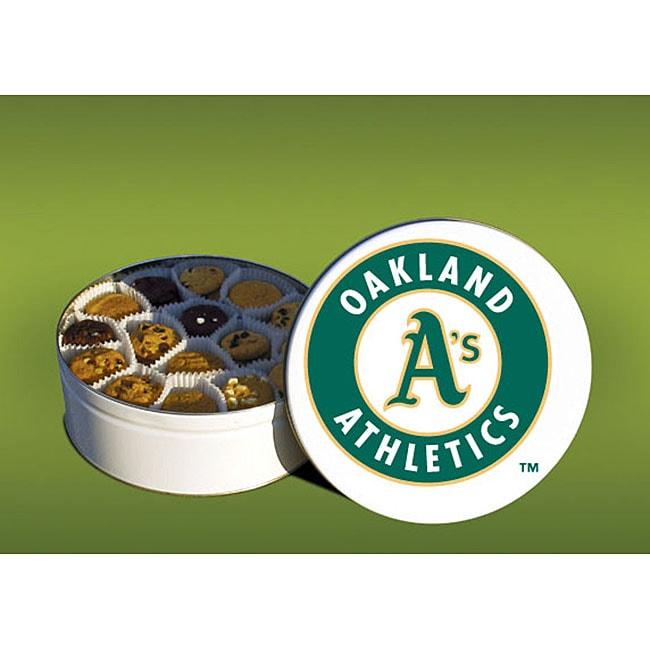Mrs. Fields Oakland A's 96 Nibbler Cookies Tin