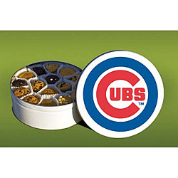 Mrs. Fields Chicago Cubs 96 Nibbler Cookies Tin