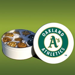Mrs. Fields Oakland A's 48 Nibbler Cookies Tin