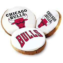 Mrs. Fields Chicago Bulls Logo Butter Cookies (Pack of 12)