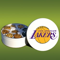 Mrs. Fields LA Lakers 48 Nibbler Cookies Tin