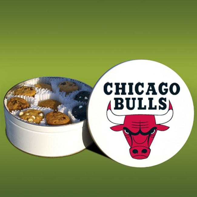 Mrs. Fields Chicago Bulls 48 Nibbler Cookies Tin
