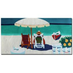Antonio, 'Caribbean Peacefulness' Gallery-wrapped Canvas Art