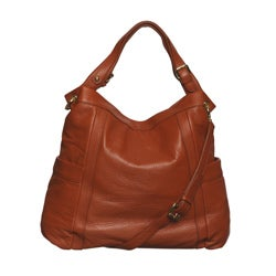 Presa Kennington Oversized Chestnut Leather Hobo Bag