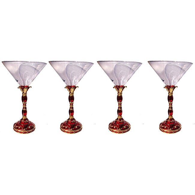 Cristiani Crystal Jeweled Royal Martini Glass