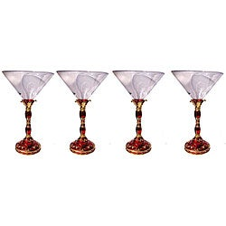 Cristiani Crystal Jeweled Royal Martini Glass
