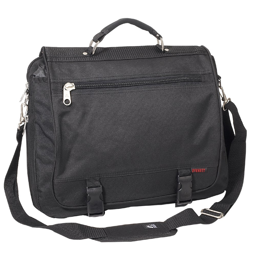 Everest 16.5-inch Expandable Soft Leather Handle Briefcase