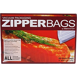 "VacMaster Quart Zipper Bags 50 count (8"" X 12"")"