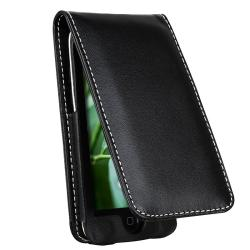 Leather Case w/ Screen Protector for Apple iPod Touch 4th Generation