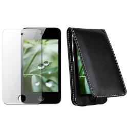 INSTEN Leather iPod Case Cover w/ Screen Protector for Apple iPod Touch 4th Generation