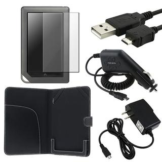 5-piece Leather Case/ Protector/ Chargers for Barnes & Noble Nook