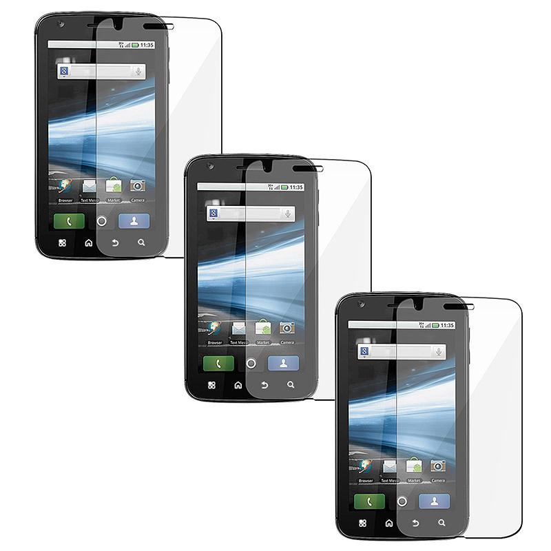 Screen Protector for Motorola MB860 Atrix 4G (Pack of 3)