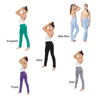American Apparel Cotton Spandex Jersey Straight Leg Yoga Pants