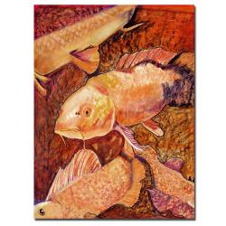 Pat Saunders-White 'Golden Koi' Gallery-wrapped Canvas Art