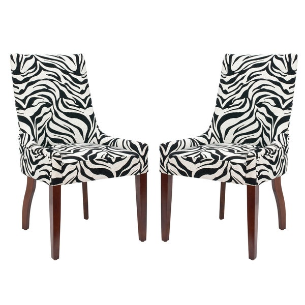 Safavieh Zebra Print Black and White Side Chairs (Set of 2)