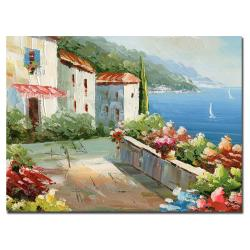 Rio 'Mediterranean View' Gallery-wrapped Canvas Art