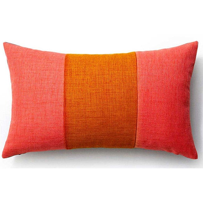 Rebel Pieces Pink/ Orange/ Chocolate 12x20-inch Pillow