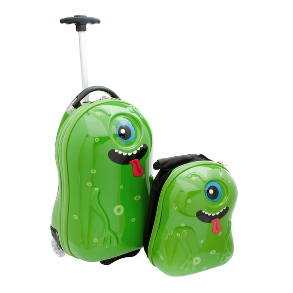 Travel Buddies Alien 2-piece Hardside Kid's Carry On Luggage Set