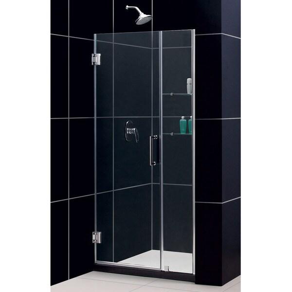 Dreamline unidoor 39 43x72 inch frameless hinged shower for Discount frameless shower doors