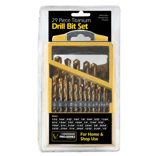 Buffalo Tools 29-piece Titanium Drill Bit Set