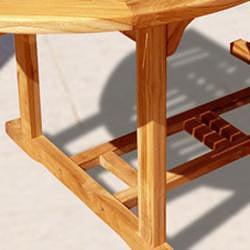 Casimir Outdoor Teak Oval 3-piece Table