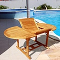 Casimir Outdoor Teak Oval 3-piece Table