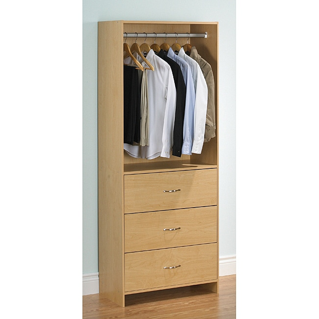 Akadahome 3-drawer Wardrobe Closet Tower