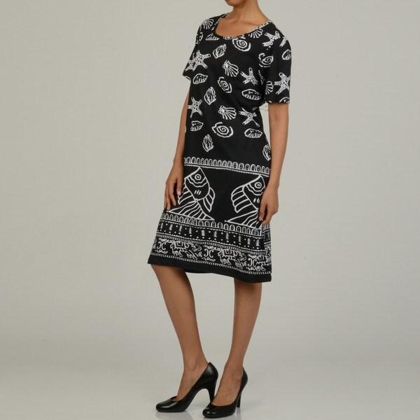 La Cera Women's Cotton Sea Shore Sundress