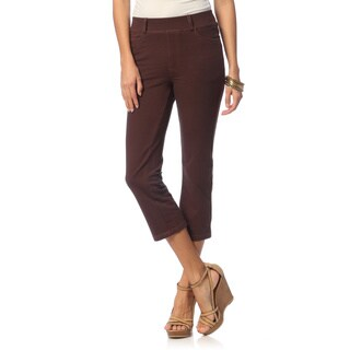 La Cera Women's Denim Capri