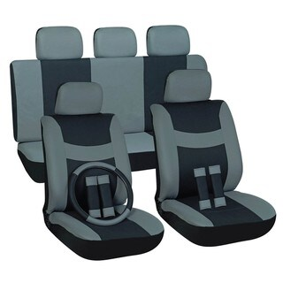 Two-tone Grey 16-piece Car Seat Cover Set