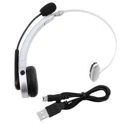 INSTEN Silver Wireless Bluetooth Headset for Sony PS3/ PS3 Slim