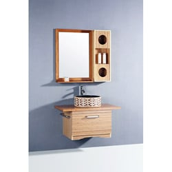 Bamboo 3-piece 35.5-inch Single Sink Vanity Set