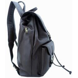Leatherbay Dark Brown 17-inch Premium Cow Leather Laptop Backpack