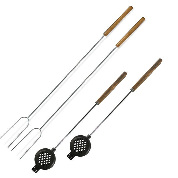 Buffalo Tools BBQ Fork and Round Pie Iron Set