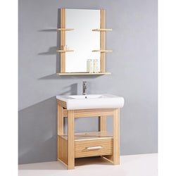 Bamboo 2-piece 28.5-inch Single Sink Bathroom Vanity