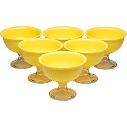Red Vanilla Yellow Summer Ice Cream Bowls (Pack of 6)