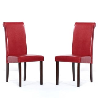 Warehouse of Tiffany Red Dining Chairs (Set of 8)