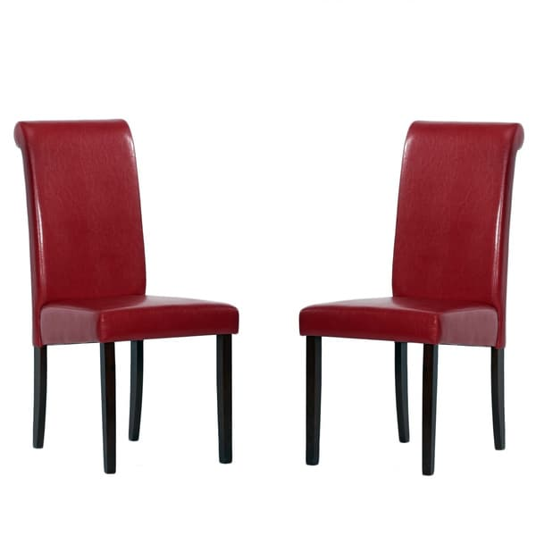 Warehouse of Tiffany Red Dining Chairs (Set of 4)