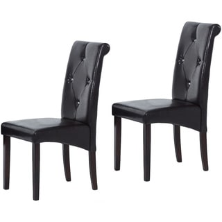 Warehouse of Tiffany BrownBicast Leather Dining Room Chairs (Set of Eight)