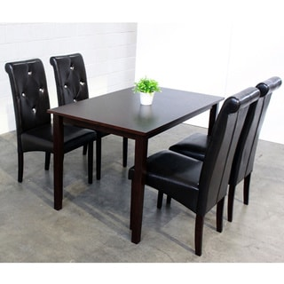 Warehouse of Tiffany 5-piece Black Dining Room Furniture Set