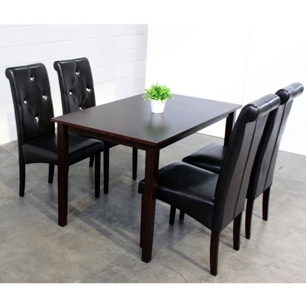 tiffany 5 piece black dining room furniture set 13708675 overstock